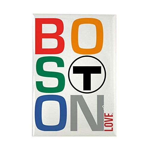 CafePress Boston Multi T Rectangle Magnet, 2