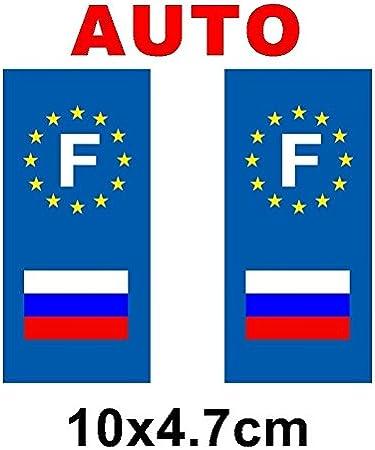 Pegatina para placa de matrícula de coche, diseño de la bandera de Rusia: Amazon.es: Hogar