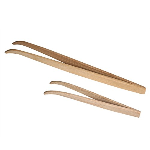 Bwogue 2 Pack Extra Long Bamboo Tweezers Feeding Tool Safe and Eco-Friendly to Hold Worms, Crickets and Bugs for Reptiles, Geckos, Bearded Dragons, (Worm Bug)