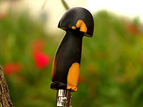 Cuchillo de seta en madera de ébano negro.: Amazon.es: Handmade