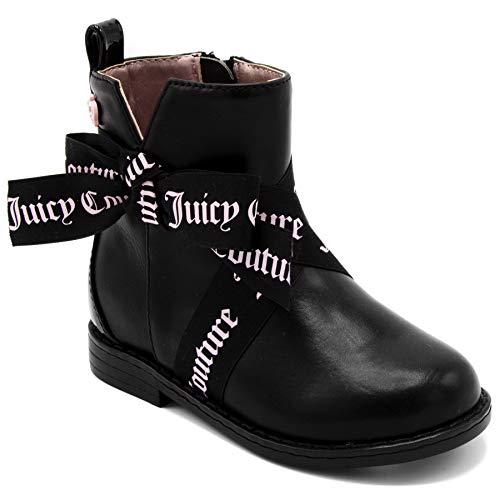 Juicy Pink Leather Couture (Juicy Couture Kids JC Lil Anaheim Girls Low Shaft Ankle Boot 6 Toddler)