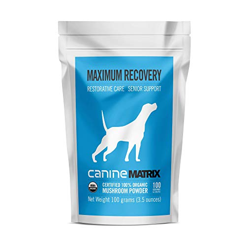 Canine Matrix Organic Mushroom Supplement For Dogs, Maximum Recovery, 100 Gm (Packaging May Vary)