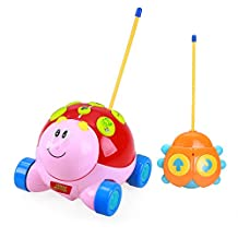 Holy Stone Cartoon Ladybug RC Car with Music and Lights Electric Radio Control Toy for Baby Toddlers Kids Children