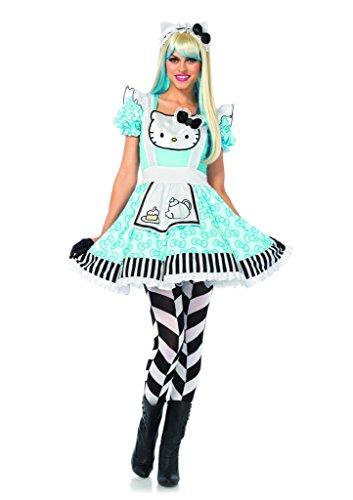 3pc. Hello Kitty Alice Lolita Dress Ear Headband Costume Bundle with Pink (Hello Kitty Costume Head)