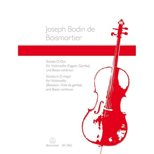 (Boismortier, Joseph de - Cello Sonata in D Major Op. 50 No. 3 for Cello and Piano)