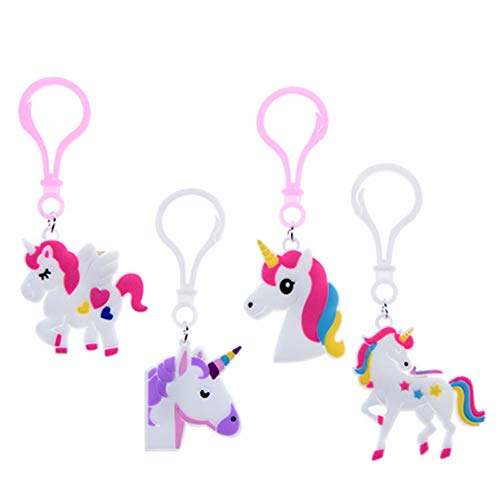 OBI Unicorn Novelty Party Favors 1dozen Rubber Key Clips, Birthday Party Favors Supplies for Kids Girls, Prizes Gifts, Reward Box Fillers (Keychain) ()