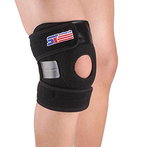 kokorest SX625 Adjustable Knee Pad Sports Leg Knee Support Brace Wrap Protector Pad Patella Guard 2 Spring Bars Black