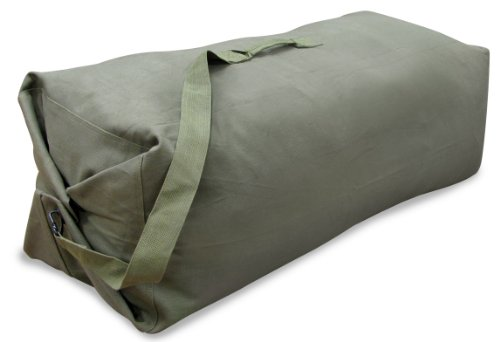 Stansport 1205 Deluxe Duffel Bag with Shoulder Strap, 50″ X 14.5″ X 14.5″, Olive Green