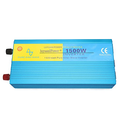 Cantonape Car Boat RV 1500W/3000W(Peak) Pure Sine Wave Power Inverter DC 12V to 110V AC with LCD Display by Cantonape (Image #5)