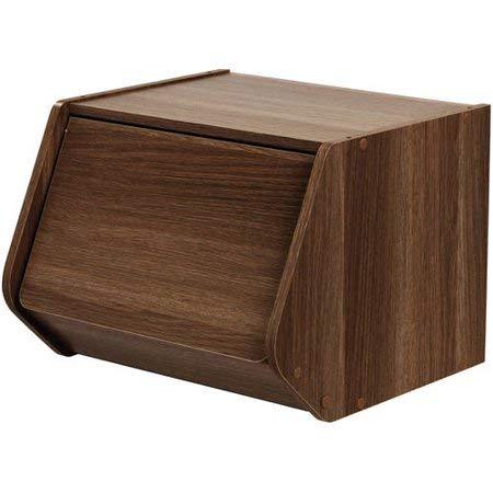 IRIS USA, SBD-DB, Modular Stacking Storage Box with Door, Dark Brown, 1 Pack