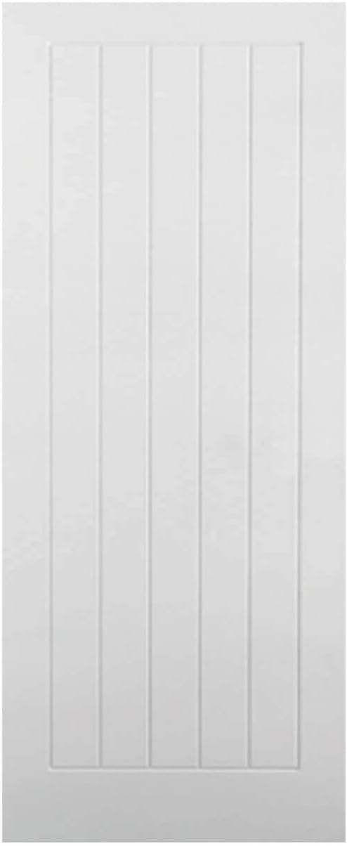 1981x610x35mm LPD White Moulded Textured Vertical 5P Internal Door 78x24inch