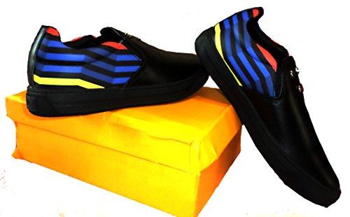FENDI sneakers,slip-ons in multicoloured leather, Size 10 US (EUR 43/44) (Fendi Mens Sneakers)