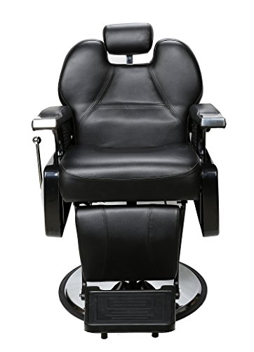 BarberPub All Purpose Hydraulic Reclining Barber Chair Salon Spa Beauty Chair Styling Equipment 6154-2687 (Black) by BarberPub