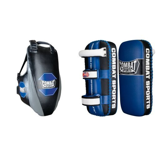 Combat Sports MMA Body Protector and Muay Thai Kickpad Bundle by