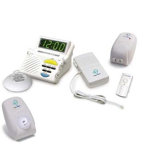 Sonic Alert Wireless Doorbell (Sonic Alert Sonic System SS1200C Signaling Combo with 2 Free)