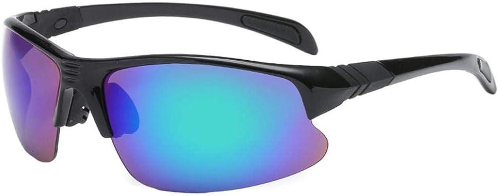 LAAT Gafas de Sol de Ciclismo hombre, polarizado Protección Gafas, protección UV400 para deportes como ciclismo o running, color verde fluorescente