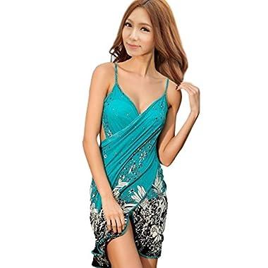 Simplicity Women's Floral Print Beach Sarong Bath Cover-up Swimwear Pareo Wrap