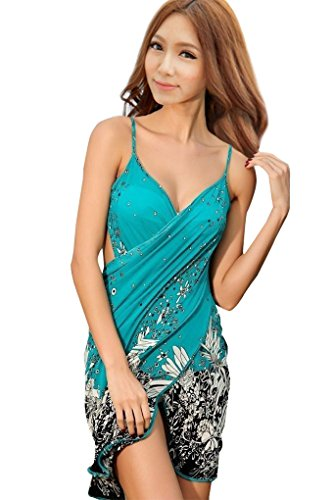 Simplicity Women's Floral Print Beach Sarong Bath Cover-up Swimwear Pareo Wrap