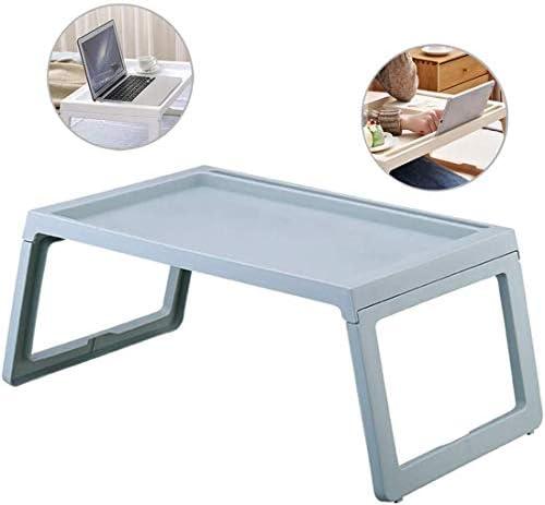 ポータブルラップトップコンピューターテーブル、調節可能なラップトップベッドトレイデスク、折りたたみ式ラップトップスタンド、朝食用テーブル-寮、アパート、家族などに適しています。 (Blue, 21.5 * 14.1 * 10.4 in)