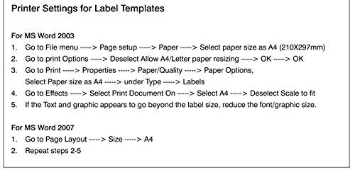 saco self adhesive label 1 label per page a4 100 sheets amazon
