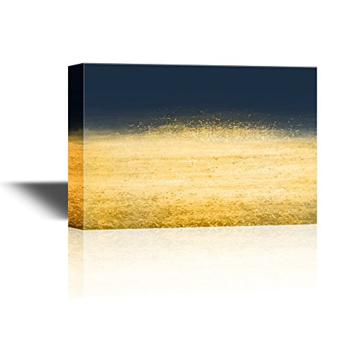 Color Composition Artwork with Dark Blue and Gold Gallery