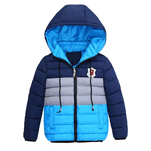 MODOQO Winter Clothes for Baby Boy Long Sleeve Zipper Hoodies Jacket Warm Coat by MODOQO