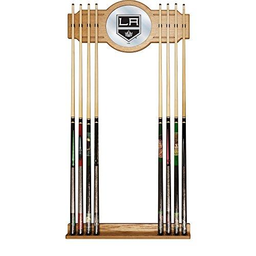 Trademark Gameroom NHL Los Angeles Kings Cue Rack with Mirror - Nhl Logo Cue Rack