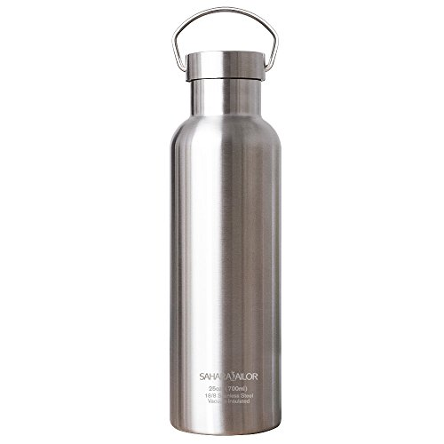 Sahara Sailor Sports Water Bottle Vacuum Stainless Steel Double Wall Insulated Water Bottle, 25 Oz