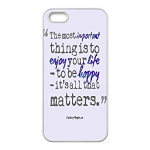 Audrey Hepburn Quote Customized Cover Case with Hard Shell Protection for Iphone 5,5S Case lxa#904704
