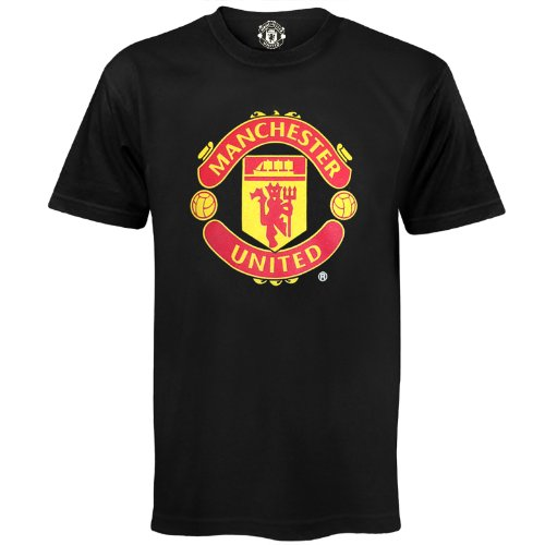 - Manchester United Football Club Official Soccer Gift Mens T-Shirt Black Large