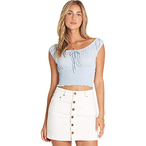 - Billabong Women's Good Life Denim Skirt Sea Bleach 25