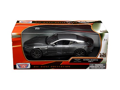 - Aston Martin DB11 Silver 1/24 Diecast Model Car by Motormax 79345