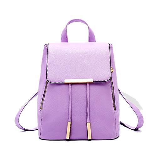 Artwell Women Leather Backpack Purse Fashion Shoulder Bag Ladies Rucksack School Bag for Girls Purple