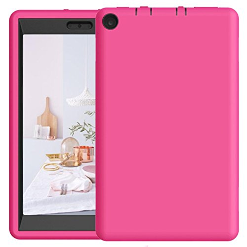 For 8Inch Amazon Kindle Fire HD 8 Tablet Case 2017, Iusun Shockproof Hybrid Case Protective Shell Cover (F) (Remote Fire Amazon Ipazzport Tv)