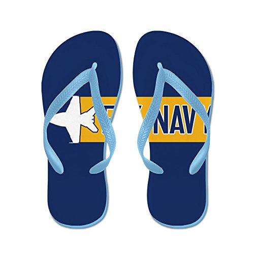 Cafepress Us Navy: Fly Navy (f-18) - Slippers, Grappige Leren Sandalen, Strandsandalen