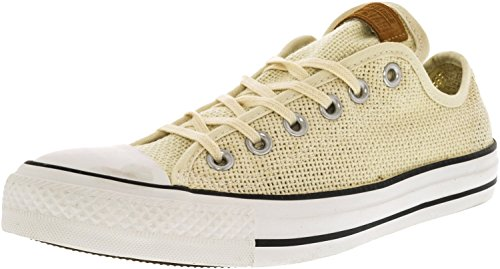 Converse Chuck Taylor All Star Low Summer Woven Sneaker,Natural/White/Acorn,US 6