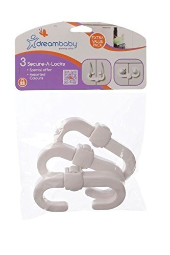 Dreambaby Secure-a-lock White (Pack of 3) Dreambaby® F712