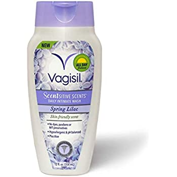Vagisil Scentsitive Scents Daily Intimate Feminine Vaginal Wash , Spring Lilac, 12 Fluid Ounce