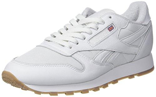 Leather Reebok Hombre Zapatillas Blanco white 000 Classic Para Estl 5pxZrCqp