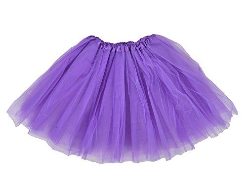 Tutu Skirt Tulle Fibers 3-layered Classic(Purple,onesize) (Tutu Skirts Adults)