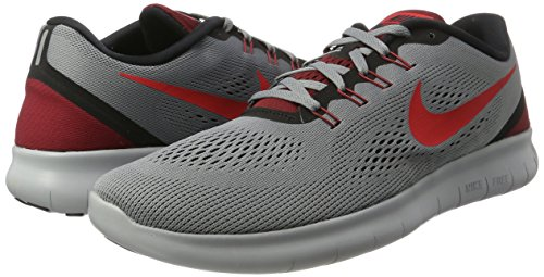 Nike -  T-shirt - Semplice  - Donna Grigio (Cool Grey/Actn Rd-black-tm Rd)
