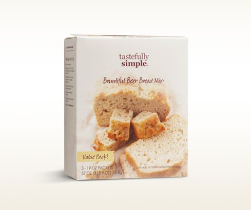 Tastefully Simple Bountiful Beer Bread - 3 Loaf Box!