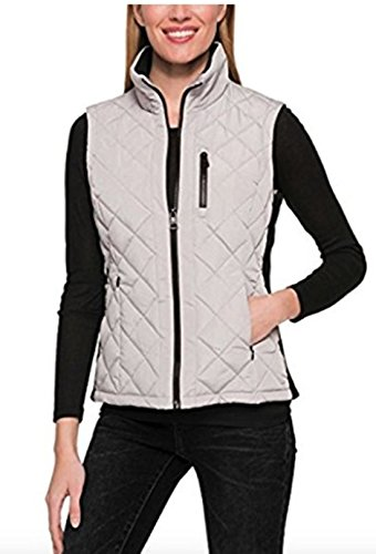 Andrew Marc Ladies' Quilted Vest (S, Gray)