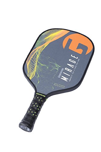Gamma Mirage Composite Pickleball Paddle: Pickle Ball Paddles for Indoor & Outdoor Play - USAPA Approved Racquet for Adults & Kids - Orange/Green by Gamma (Image #4)