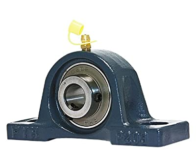 "FYH UCP202-10 Pillow Block Mounted Bearing, 2 Bolt, 5/8"" Inside Diameter, Set screw Lock, Cast Iron, Inch"