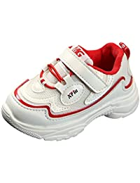 ♡ Kids Tennis Shoes Athletic Shoes Lightweight Walking Shoes Fashion Sneakers for Boys and Girls Red