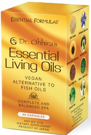 Dr. Ohhira's Essential Living Oils - 60 Capsules - A Vegan Alternative to Fish Oil with Omega 3, 6 and 9