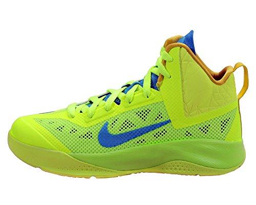 Youth Nike Boys Hyperfuse 2013 Basketball Shoe Volt/Citron/Blue Size 7