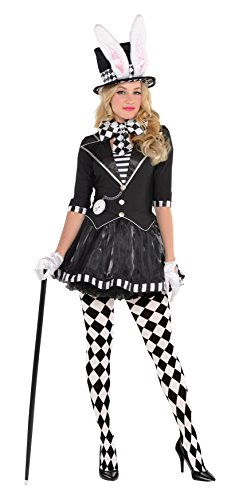 AMSCAN Dark Mad Hatter Halloween Costume for Women, Small, with Included -