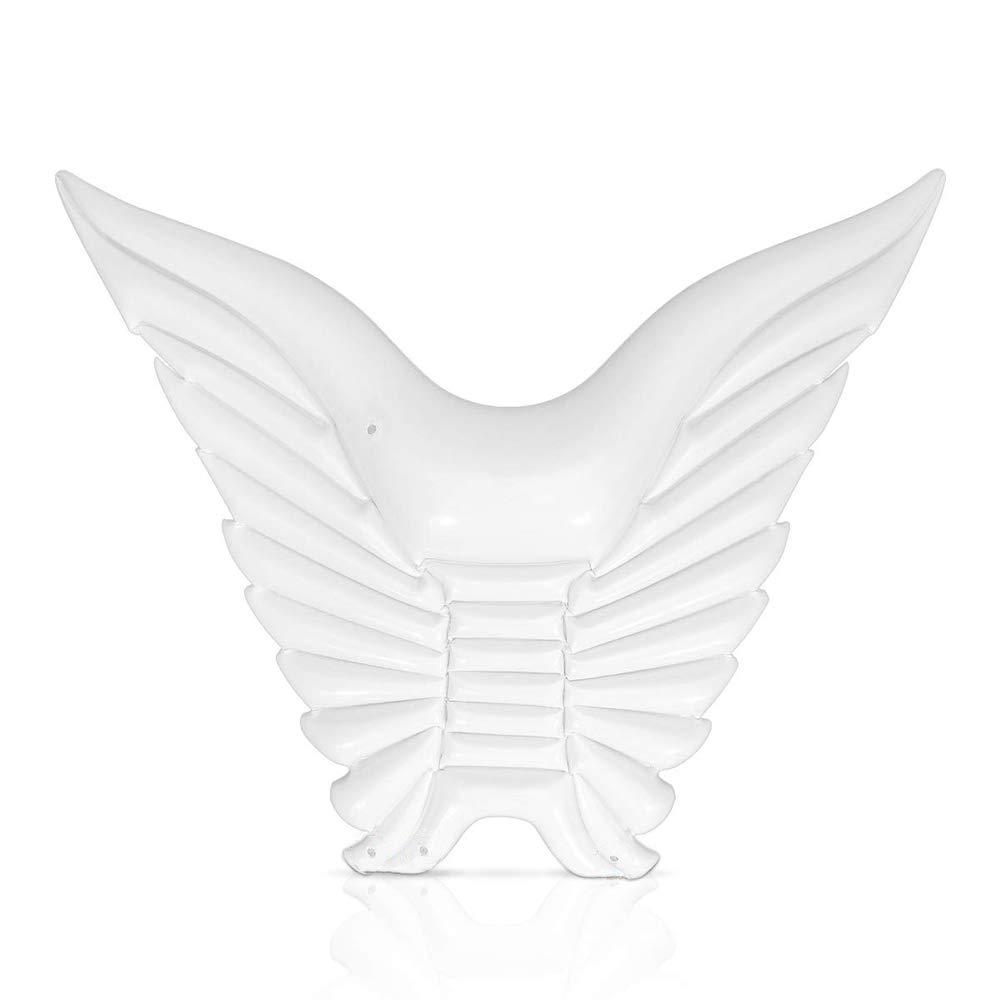 marca de lujo blancoP&KK Flotador Inflable de la la la Piscina Flotador Inflable del Agua Alas de ángel Balsa Flotante Inflable Tumbona Mariposa Anillo de natación,oro  ordenar ahora